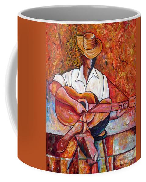 Cuba Art Coffee Mug featuring the painting My Guitar by Jose Manuel Abraham
