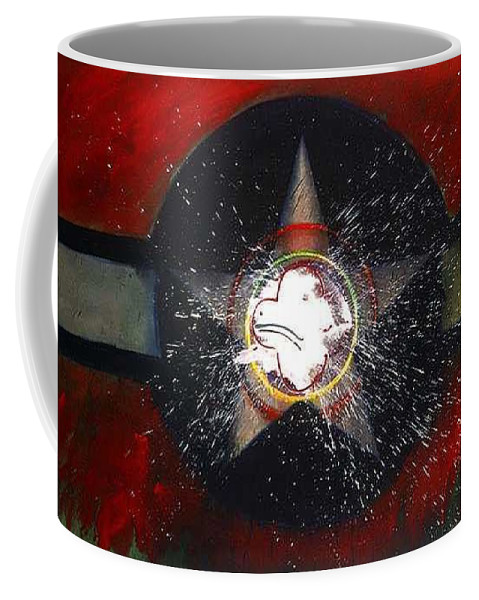 Usaaf Insignia Coffee Mug featuring the painting My Indian Red by Charles Stuart