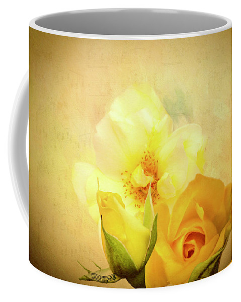 Roses Coffee Mug featuring the digital art My Melody Of Love by Diane Schuster