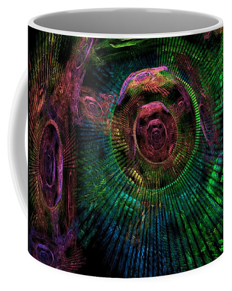 Fractal Coffee Mug featuring the digital art My Mind's Eye by Lyle Hatch