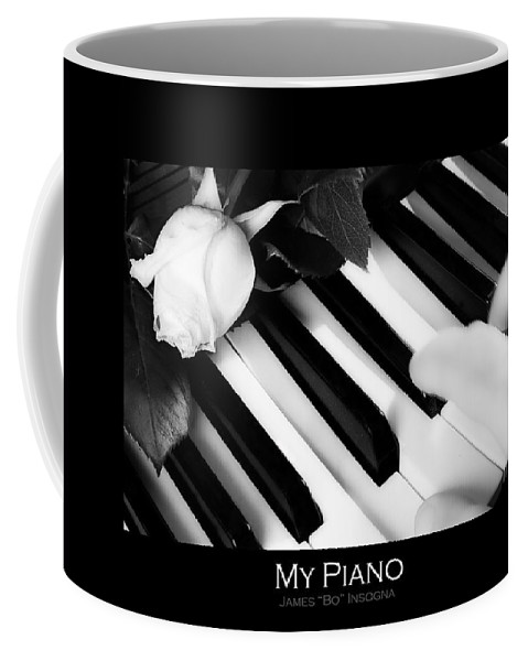 Piano Coffee Mug featuring the photograph My Piano Bw Fine Art Photography Print by James BO Insogna