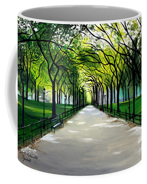 Landscape Coffee Mug featuring the painting My Poet's Walk by Elizabeth Robinette Tyndall