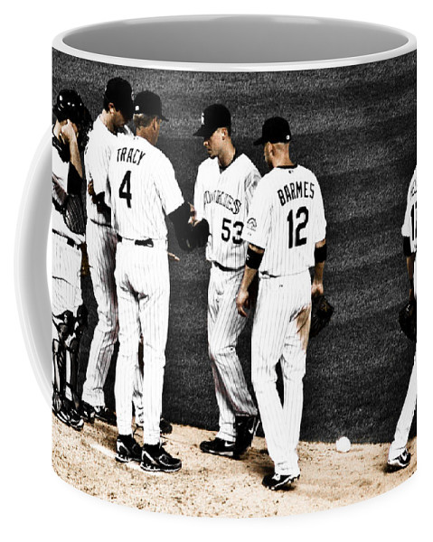 Baseball Coffee Mug featuring the photograph My Rock Collection - Colorado Rockies by Marilyn Hunt