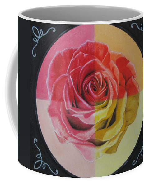 Rose Coffee Mug featuring the painting My Rose by Lynet McDonald
