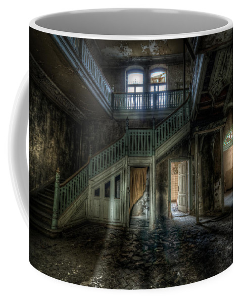 Beautiful Coffee Mug featuring the digital art My Shadow In The The Chocolate Factory by Nathan Wright