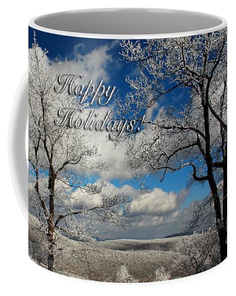 Christmas Coffee Mug featuring the photograph My Sunday Happy Holidays Card by Lois Bryan