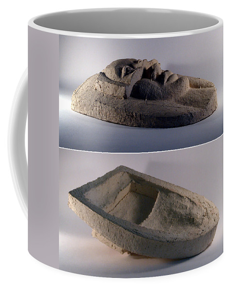 Ceramic Relief Coffee Mug featuring the relief My Veils II by Madalena Lobao-Tello