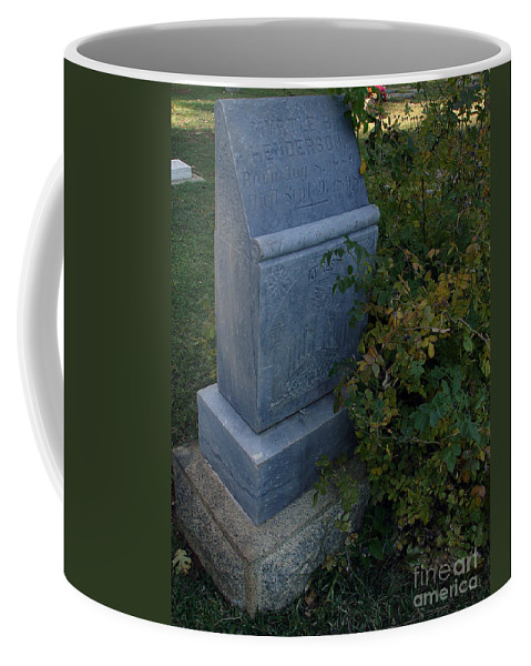 Headstone Coffee Mug featuring the photograph Myrtle At Rest by Peter Piatt