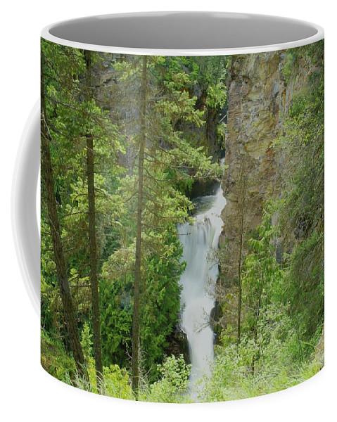 Waterfalls. Myrtlle Creek Falls Coffee Mug featuring the photograph Myrtle Creek Falls by Jeff Swan