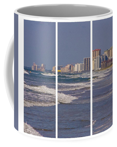 Myrtle Coffee Mug featuring the photograph Myrtle In Three by Ches Black