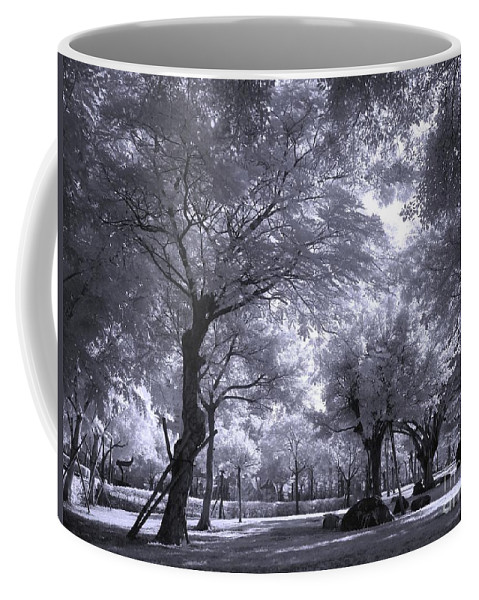 Infrared Coffee Mug featuring the photograph Mysterious Park by Yali Shi