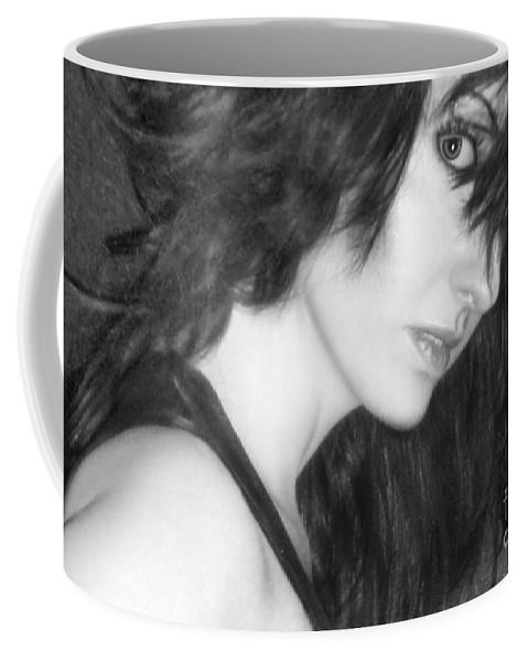Alluring Coffee Mug featuring the photograph Mystery - Self Portrait by Jaeda DeWalt