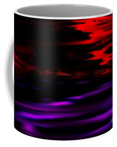 Fantasy Coffee Mug featuring the digital art Mystery World by David Lane