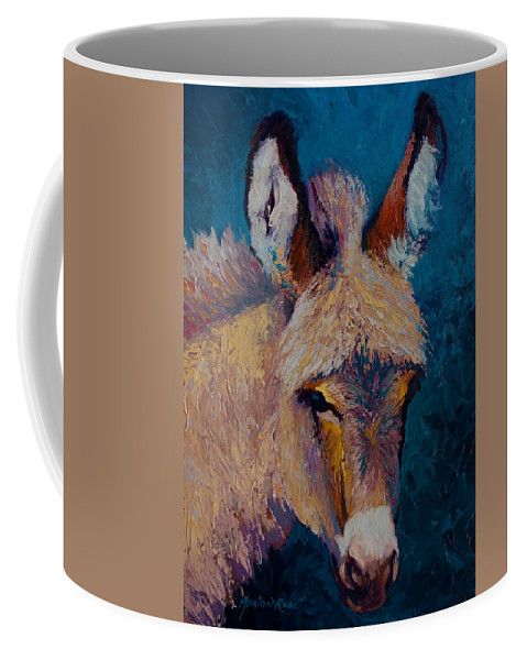 Burro Coffee Mug featuring the painting Mystic by Marion Rose
