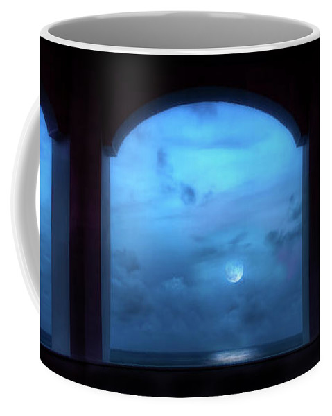 Moon Coffee Mug featuring the photograph Mystic Moonrise by Mark Andrew Thomas