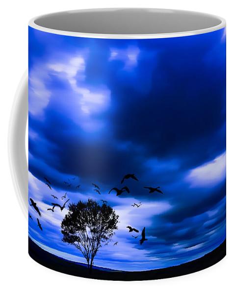 Digital Art Coffee Mug featuring the digital art Mystic Tree by Svetlana Sewell