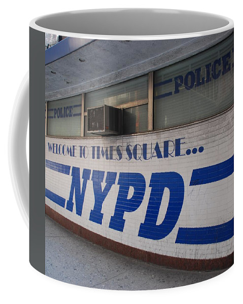 Nypd Coffee Mug featuring the photograph N Y P D Blue by Rob Hans