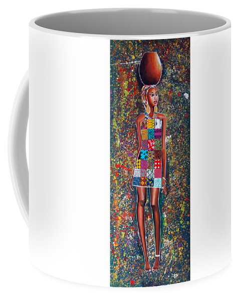 Coffee Mug featuring the painting Nabanda by Jethro Longwe