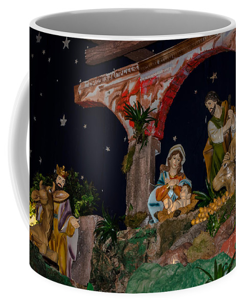 Iglesia San Andres Apostol Coffee Mug featuring the photograph Nacimiento - Apaneca 2 by Totto Ponce