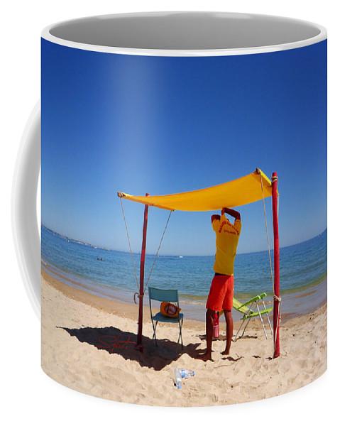 Life Guard Coffee Mug featuring the photograph Nadador Salvador by Charles Stuart