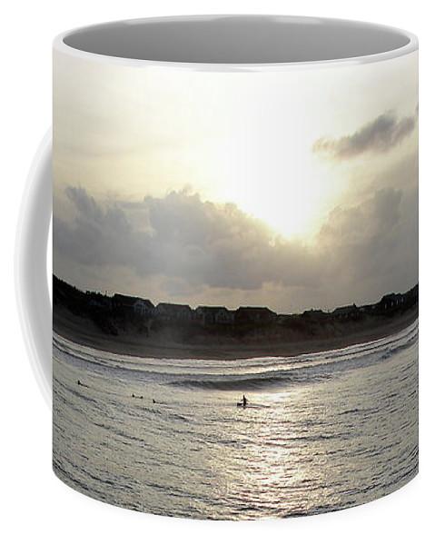 Nags Head Coffee Mug featuring the photograph Nags Head Nc Surf by Brett Winn