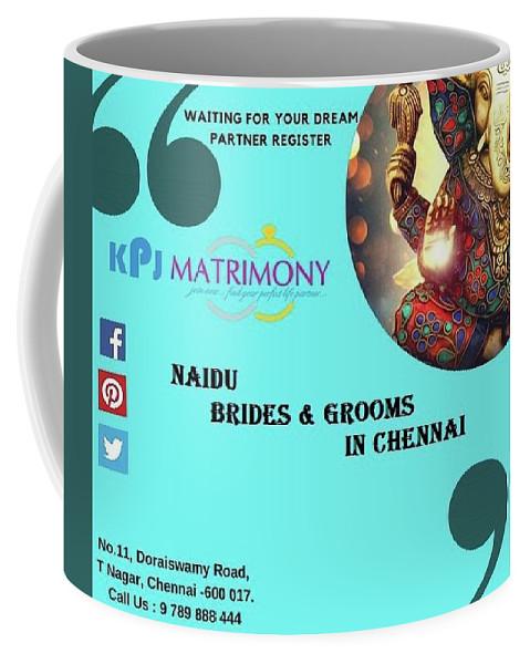 Naidu Brides In Chennai Coffee Mug featuring the digital art Naidu Brides And Grooms In Chennai by Kpj Matrimony