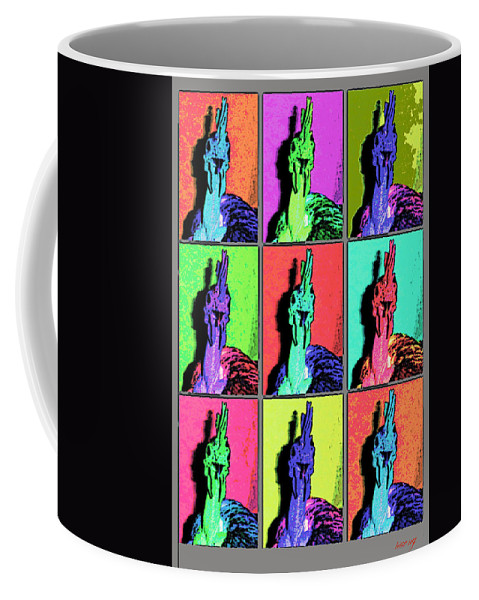 Warhol Coffee Mug featuring the photograph Naked Neck Rooster Warhol Style by Susan Baker