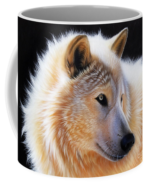 Acrylic Coffee Mug featuring the painting Nala by Sandi Baker