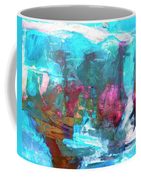 Abstract Coffee Mug featuring the painting Nanda Devi by Dominic Piperata