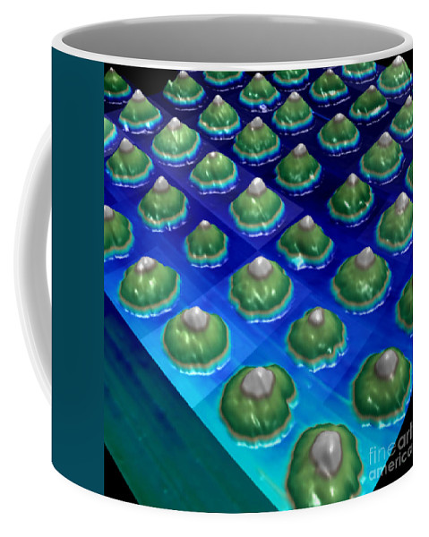 Science Coffee Mug featuring the photograph Nanoparticles, Lithium Metal, Afm by Science Source