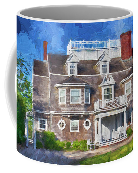 Coffee Mug featuring the photograph Nantucket Architecture Series 28 by Carlos Diaz