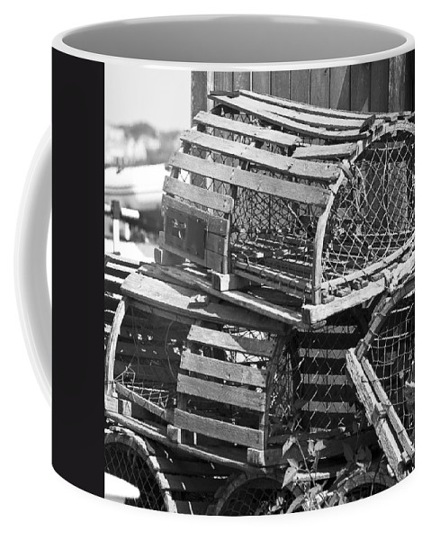 Nantucket Coffee Mug featuring the photograph Nantucket Lobster Traps by Charles Harden