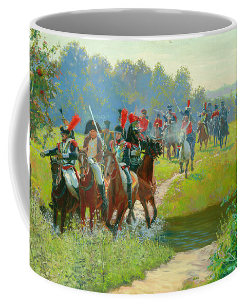Horses Coffee Mug featuring the painting Napoleon by Simon Kozhin