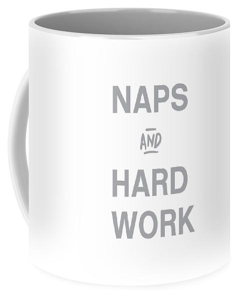 Naps Coffee Mug featuring the digital art Naps And Hard Work- Art by Linda Woods by Linda Woods