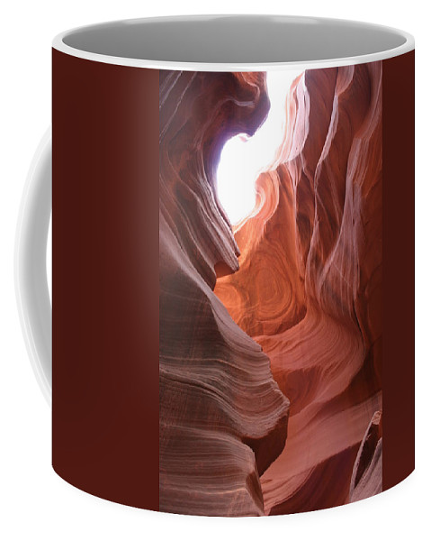 Red Canyon Coffee Mug featuring the photograph Narrow Canyon Xvii by Christiane Schulze Art And Photography