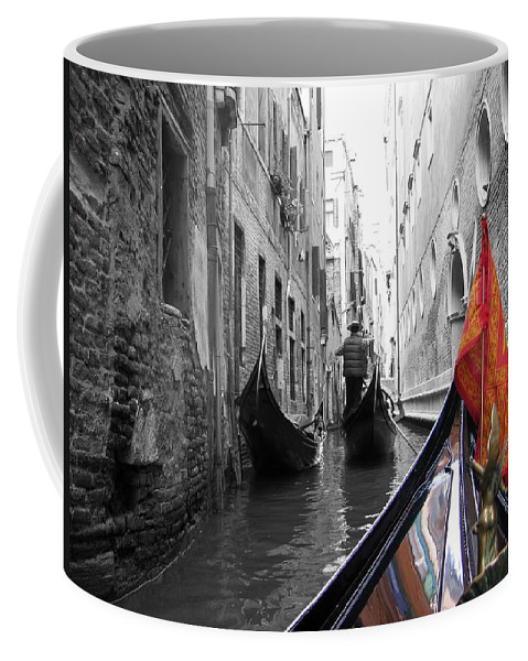 Cityscape Coffee Mug featuring the photograph Narrow Journey by Dylan Punke