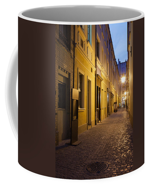 Wroclaw Coffee Mug featuring the photograph Narrow Street In Old Town Of Wroclaw In Poland by Artur Bogacki