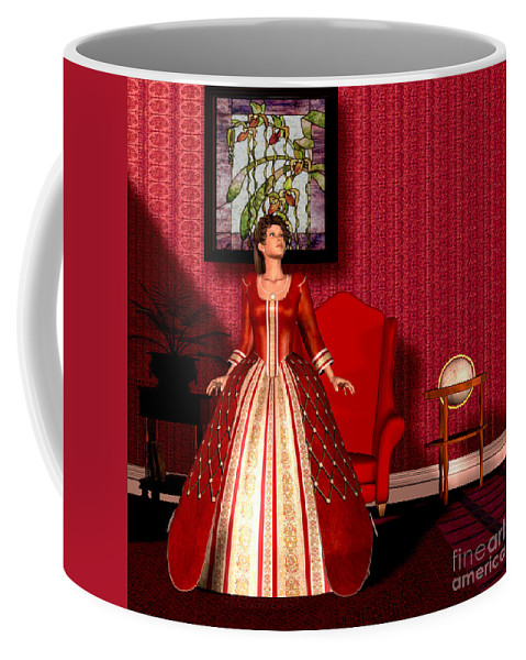 Victorian Coffee Mug featuring the painting National Velvet by Corey Ford