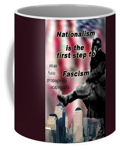 Politics Coffee Mug featuring the digital art Nationalism by Steve Karol