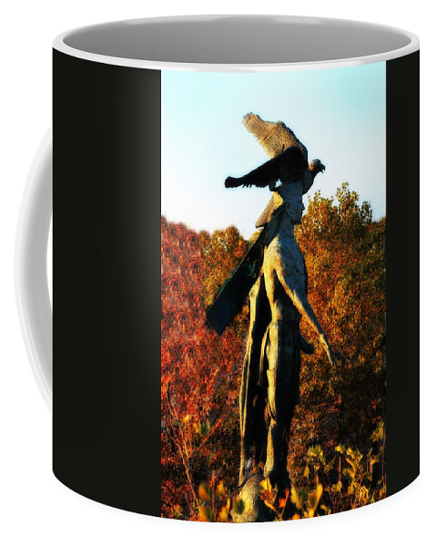 Native Coffee Mug featuring the photograph Native American And Eagle by Bill Cannon
