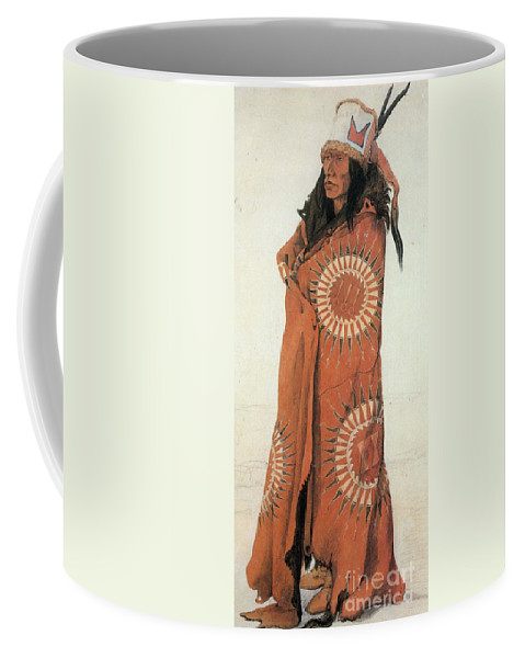 Native American Man In Painted Robe Coffee Mug For Sale By Photo Researchers