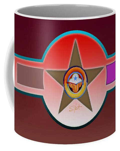 Insignia Coffee Mug featuring the painting Native American Red by Charles Stuart