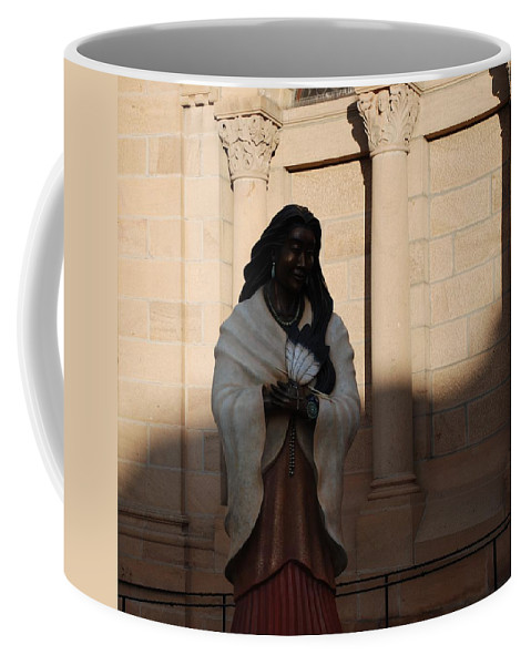 Sculpture Coffee Mug featuring the photograph Native American Saint by Rob Hans