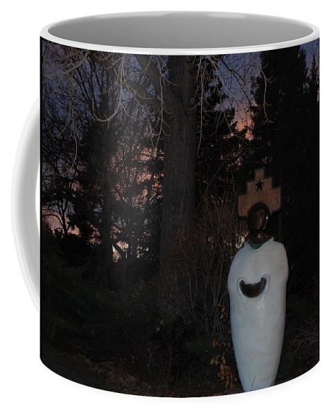 Trees Coffee Mug featuring the photograph Native American Sculpture At The State Capital by Rob Hans
