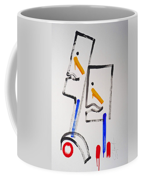 Native Americans Coffee Mug featuring the painting Native Americans Two by Charles Stuart