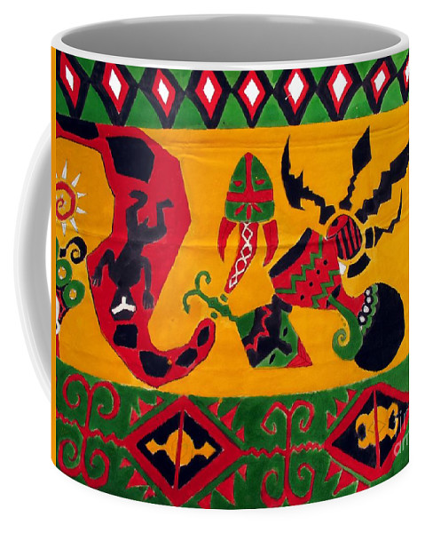 Native Coffee Mug featuring the photograph Native Tapestry by Yali Shi
