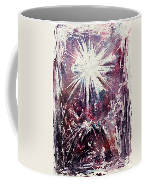 Nativity Coffee Mug featuring the painting Nativity 1 by Rachel Christine Nowicki
