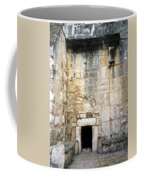 Nativity Coffee Mug featuring the photograph Nativity Church by Munir Alawi