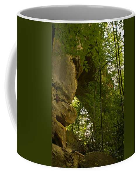 Natural Arch Coffee Mug featuring the photograph Natural Arch by Douglas Barnett