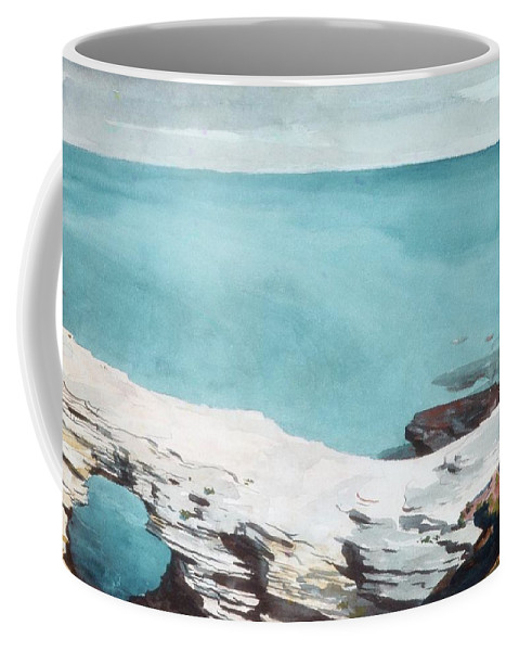 Natural Bridge Coffee Mug featuring the painting Natural Bridge by MotionAge Designs